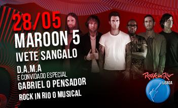 Maroon 5 en Rock in Rio Lisboa. Entradas aquí