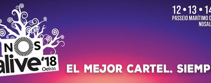 Entradas y Cartel festival NOS Alive 2018. Punto de venta oficial