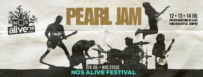PEARL JAM gira 2018. NOS Alive. Entradas
