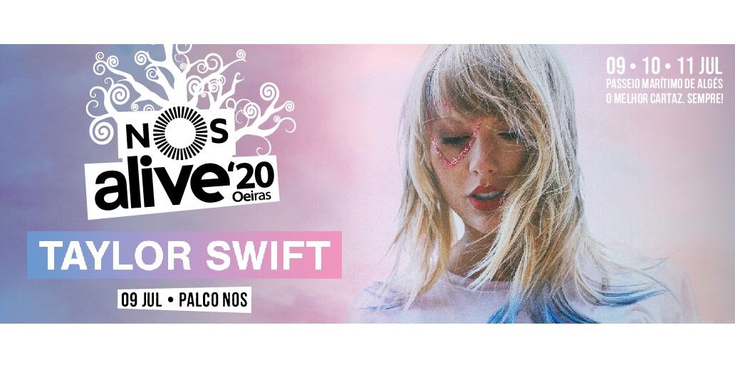 Taylor Swift en el festival Nos Alive de Lisboa. Compra aquí tus entradas oficiales. 9 julio 2020