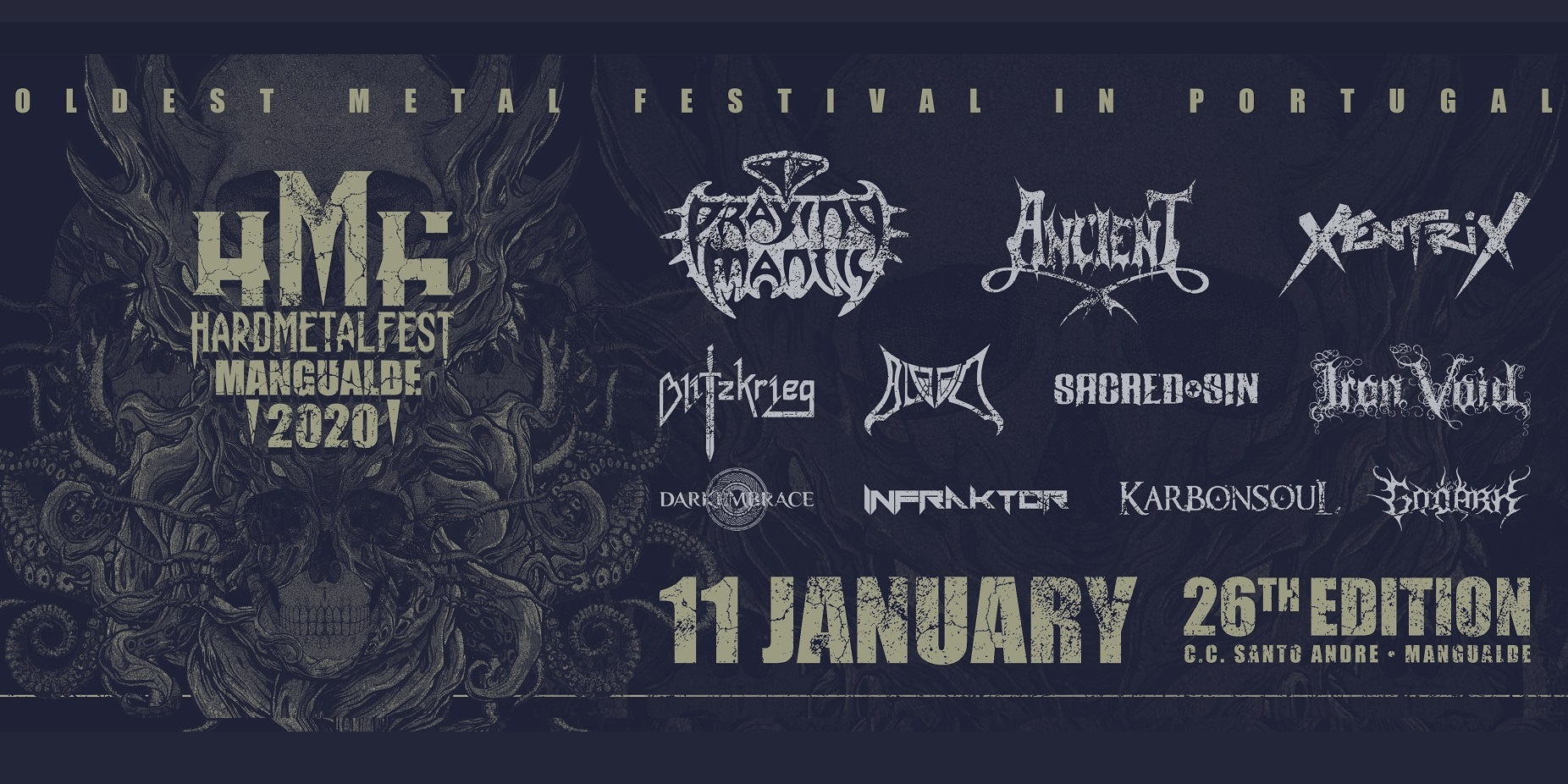 Cartel y Entradas. Hard Metal Fest Mangualde 2020