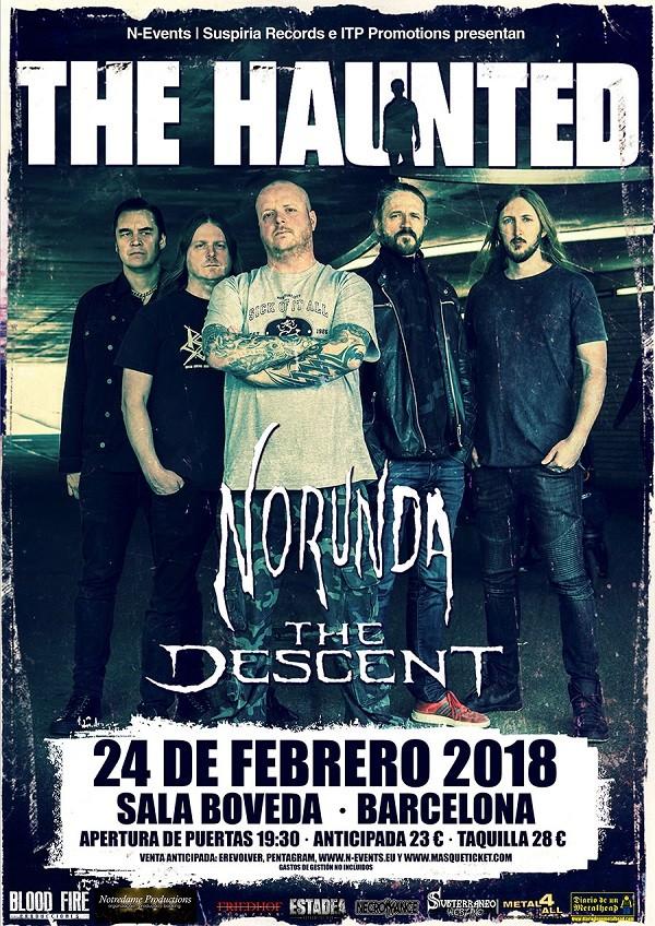 THE HAUNTED + NORUNDA + THE DESCENT (Barcelona)