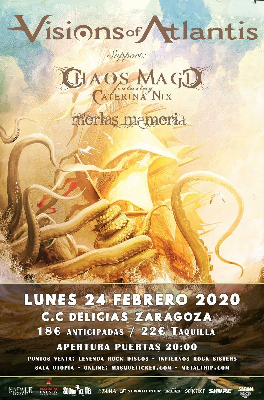 VISIONS OF ATLANTIS + CHAOS MAGIC + MORLAS MEMORIA  (Zaragoza)