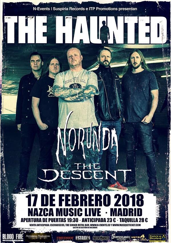 THE HAUNTED + NORUNDA + THE DESCENT (Madrid)