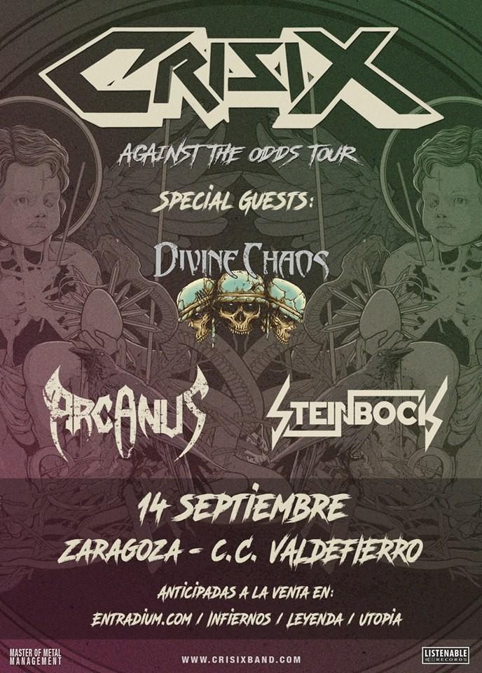 CRISIX + Divine Chaos + Arcanus + Steinbock (Zaragoza)