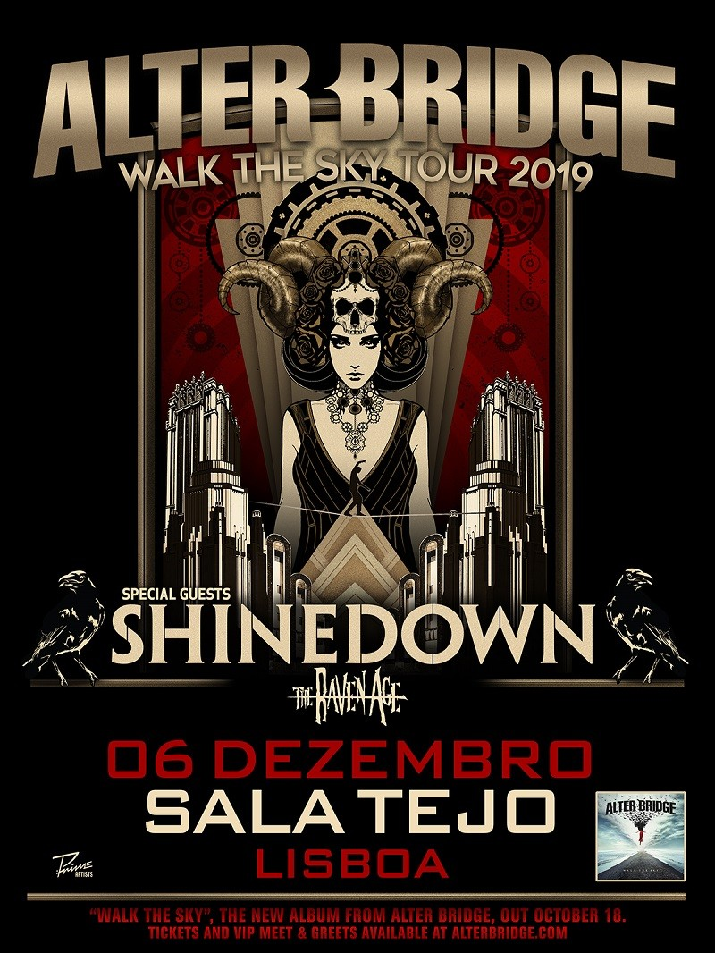 ALTER BRIDGE - Walk The Sky Tour 2019 (Lisboa)