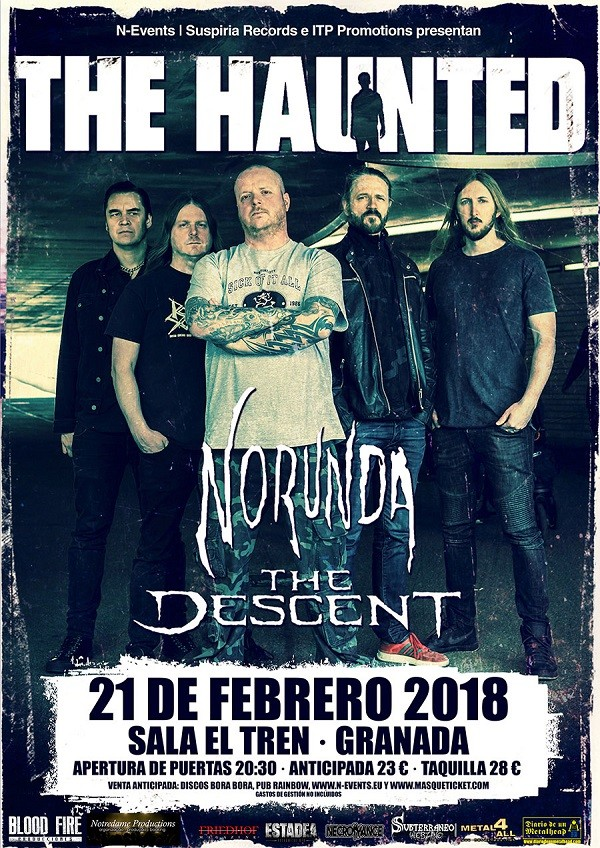 THE HAUNTED + NORUNDA + THE DESCENT (Granada)