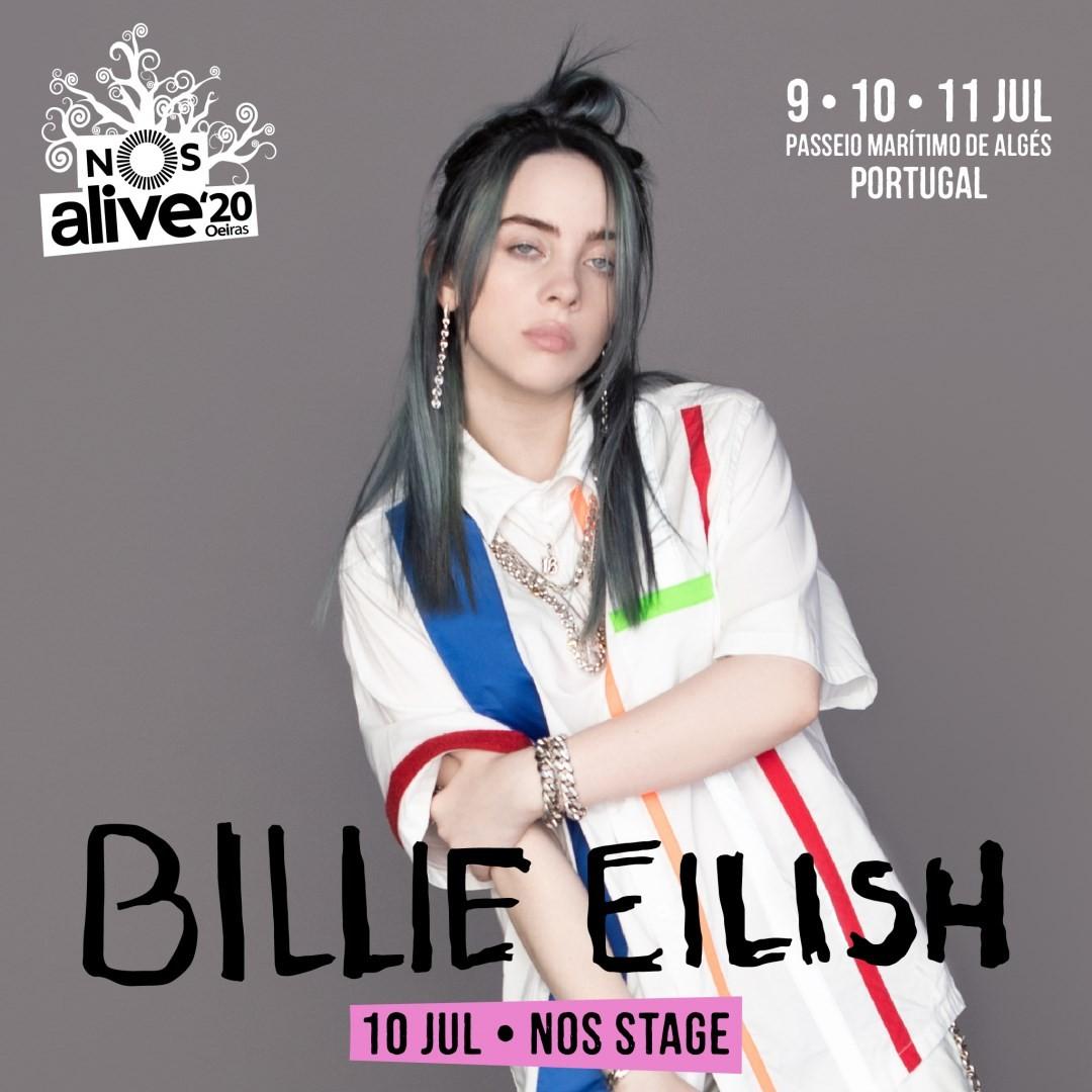BILLIE EILISH en NOS Alive 2020 (Lisboa)