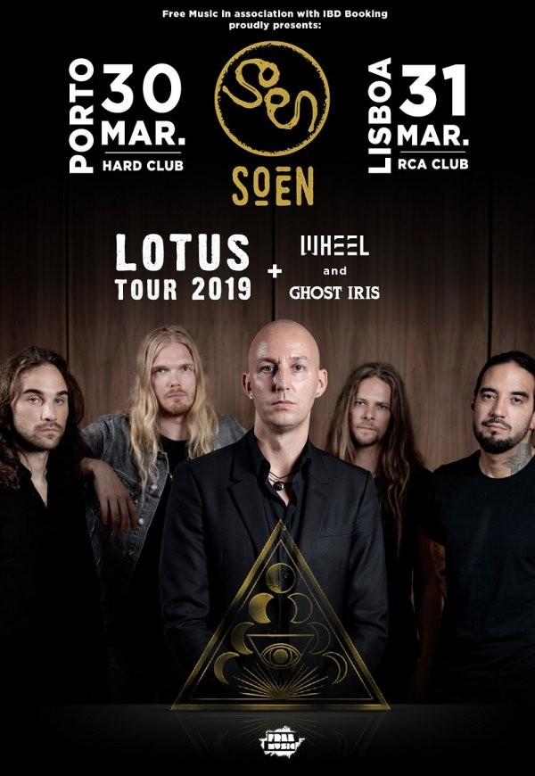 SOEN + GHOST IRIS + WHEEL (Oporto y Lisboa)
