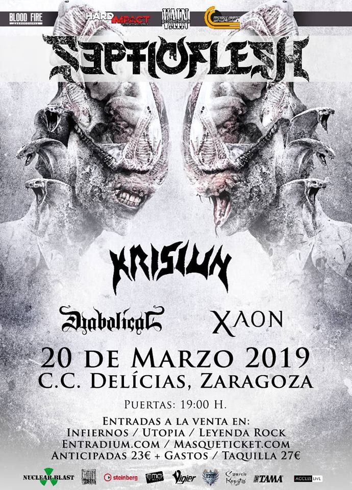 SEPTICFLESH + KRISIUN + DIABOLICAL + XAON (Zaragoza)