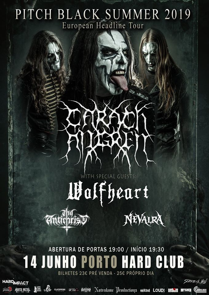 CARACH ANGREN + Wolfheart + Thy Antichrist + Nevalra (Oporto)
