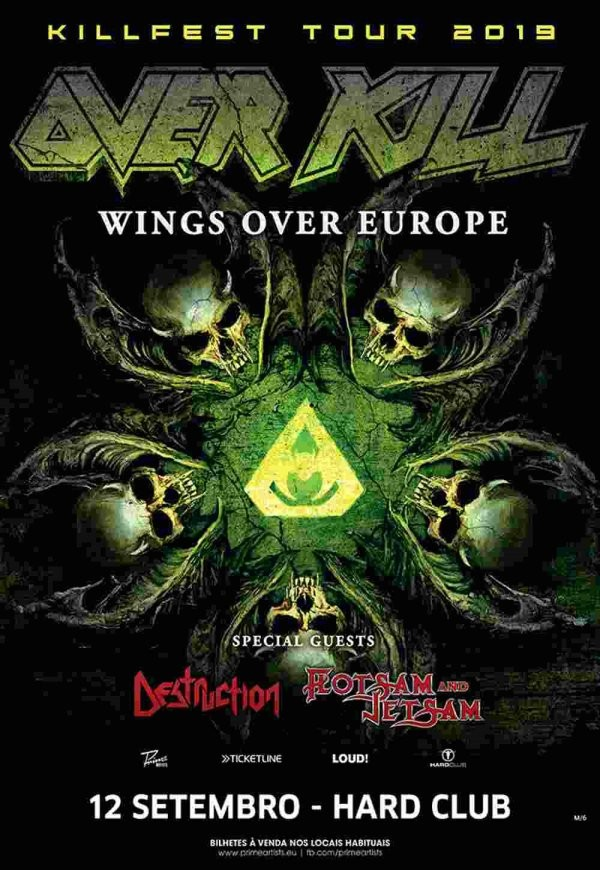 OVERKILL + DESTRUCTION + FLOTSAM & JETSAM (Oporto)