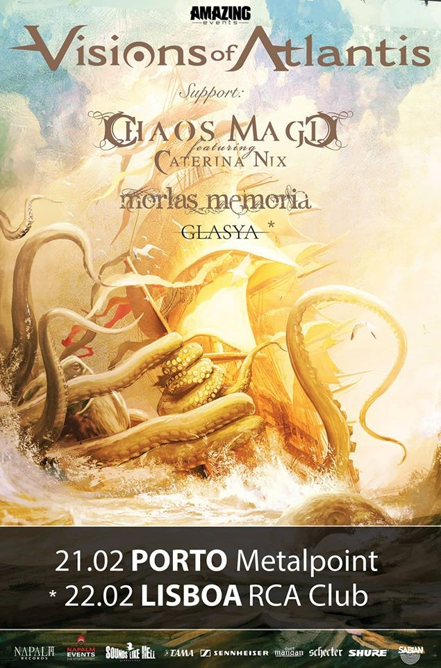 VISIONS OF ATLANTIS + CHAOS MAGIC + MORLAS MEMORIA  (Oporto / Lisboa)