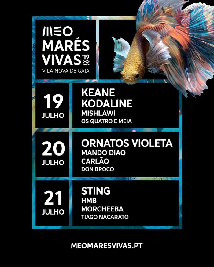 Festival MEO MARÉS VIVAS 2019 (Keane, Sting...)