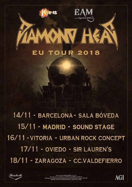 DIAMOND HEAD (Barcelona, Madrid, Vitoria, Oviedo, Zaragoza)