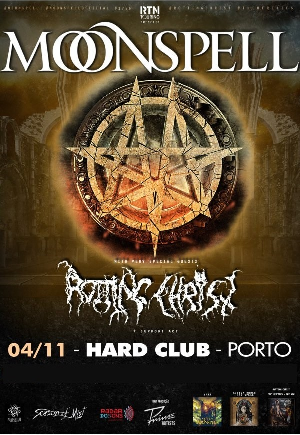 MOONSPELL + Rotting Christ (Oporto)