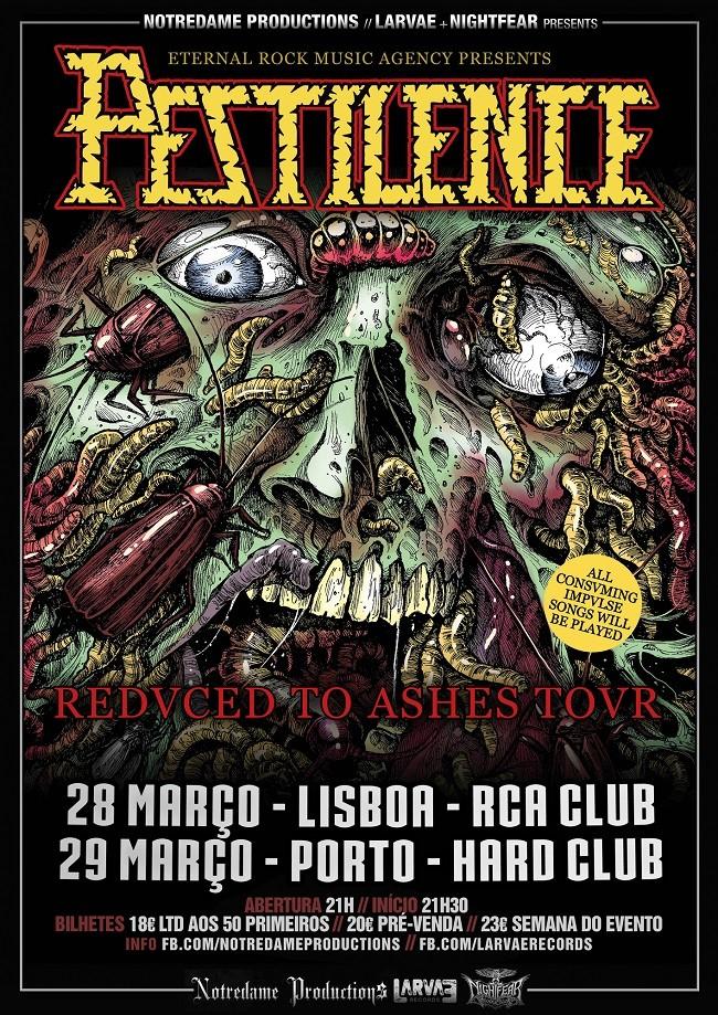 PESTILENCE (Lisboa y Oporto)