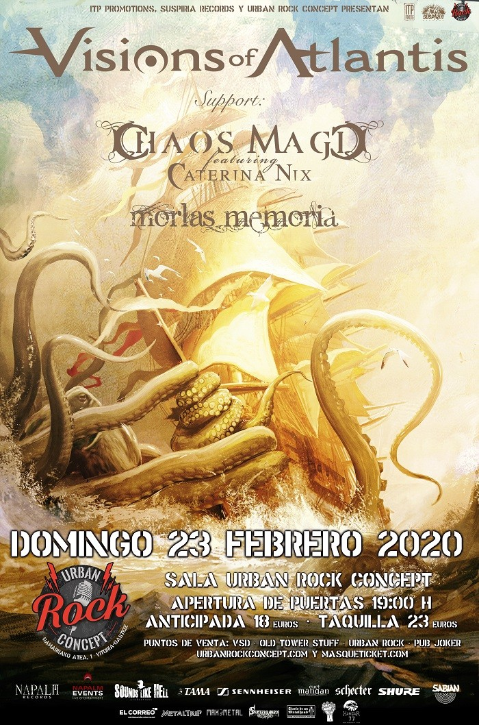 VISIONS OF ATLANTIS + CHAOS MAGIC + MORLAS MEMORIA  (Vitoria)