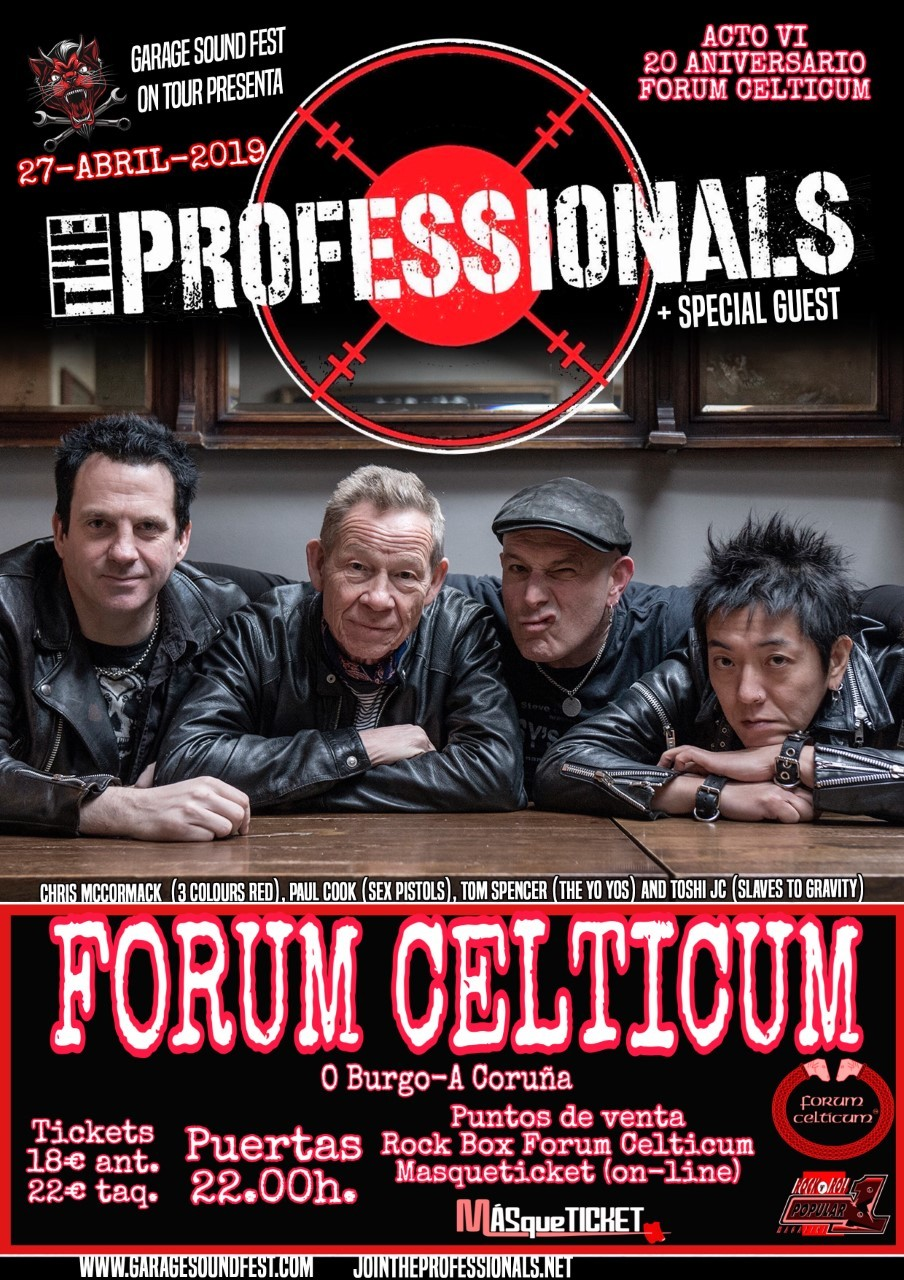 THE PROFESSIONALS + Special Guest (A Coruña)