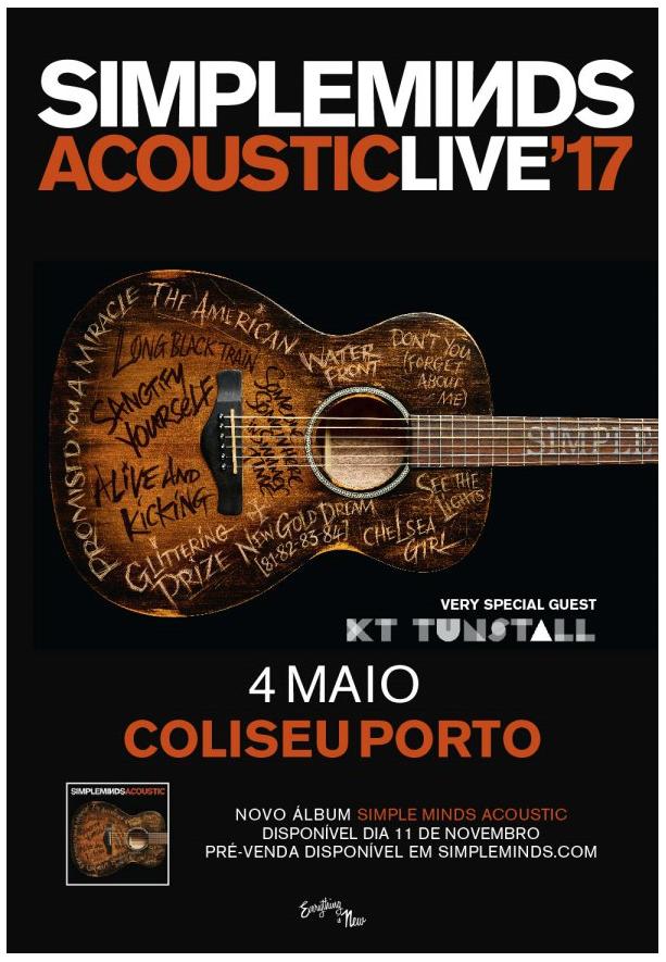 SIMPLE MINDS (Lisboa y Oporto) ACOUSTIC LIVE'17