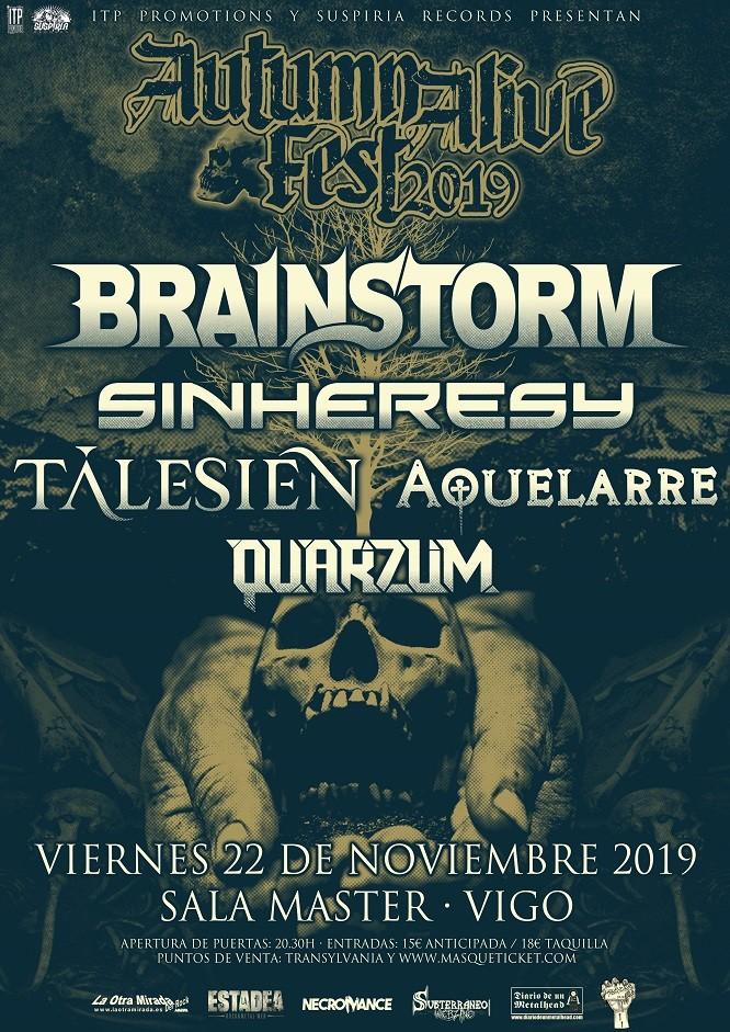 AUTUMN ALIVE 2019 - Vigo (Brainstorm + Tálesien + Aquelarre + Sinheresy + Quarzum)
