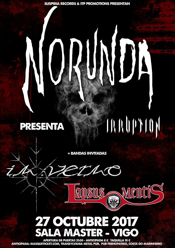 NORUNDA + IN.VERNO + LAPSUS MENTIS (Vigo)