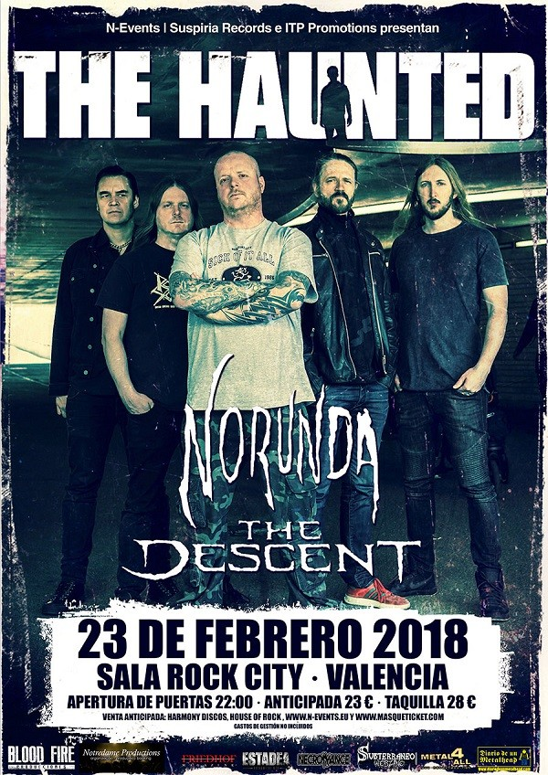 THE HAUNTED + NORUNDA + THE DESCENT (Valencia)