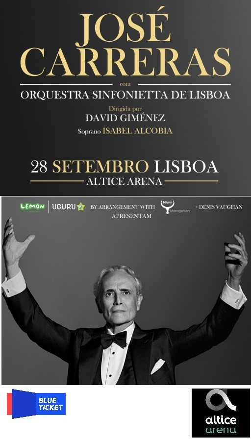 JOSE CARRERAS con ORQUESTRA SINFONIETTA DE LISBOA (Lisboa)
