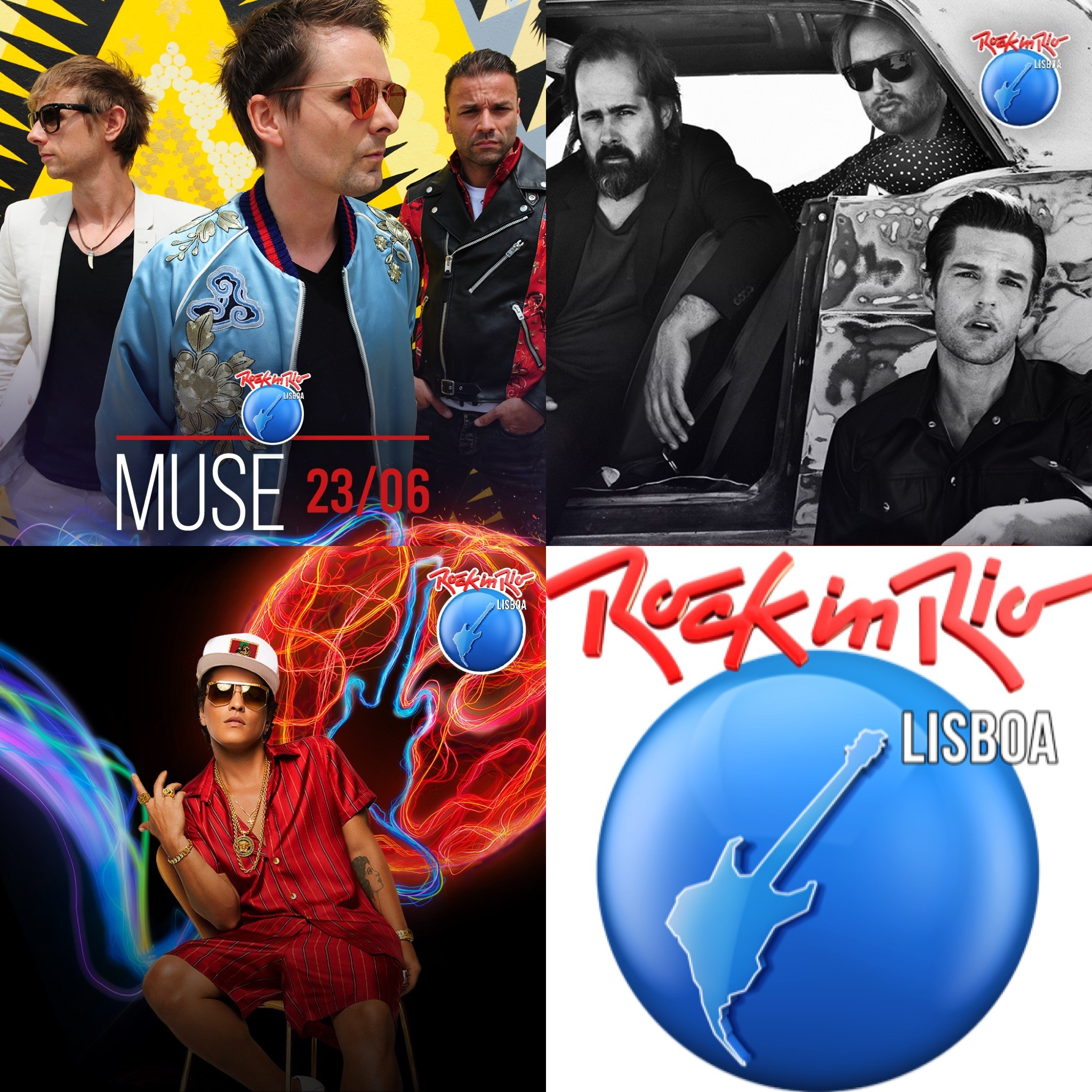 ROCK IN RIO LISBOA 2018 (Bruno Mars, Muse, The Killers, The Chemical Brothers)