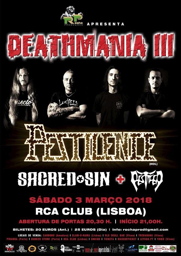 PESTILENCE + SACRED SIN + PESTIFER (Deathmanía 3 - Lisboa)