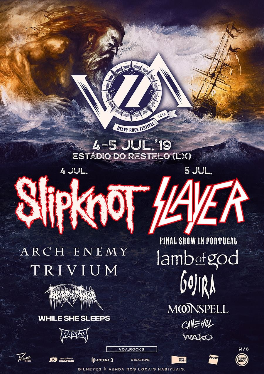 VOA Heavy Rock Festival 2019 en Lisboa (Slipknot, Slayer...)