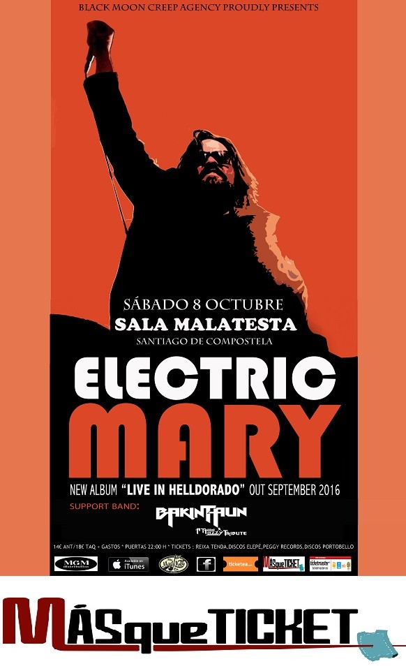 ELECTRIC MARY  + BAKINTAUN THIN LIZZY TRIBUTE (Santiago de Compostela)
