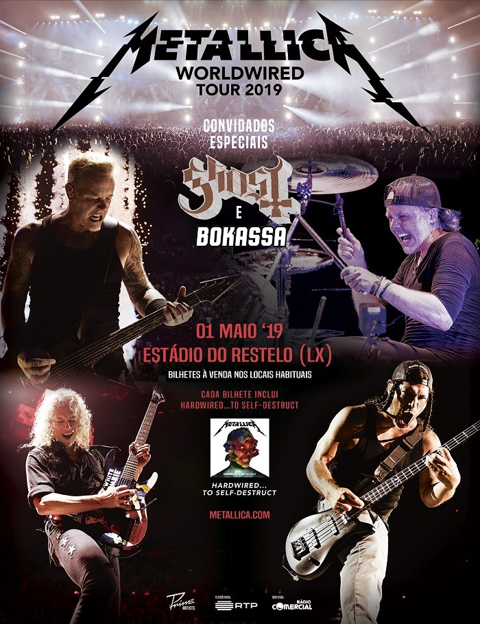 METALLICA: World Wired Tour 2019 (Lisboa) + Ghost + Bokassa